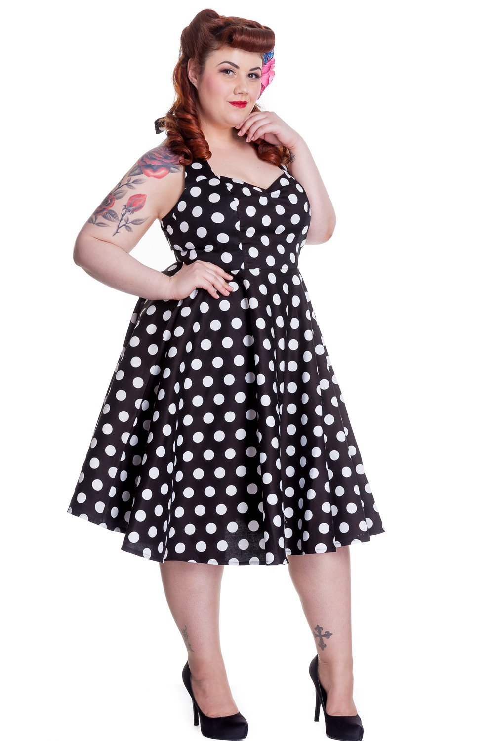 Hell Bunny Mariam Black Dress (Plus Size) - Bohemian Finds