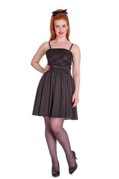 Hell Bunny Marvelette Dress (Black) - Bohemian Finds