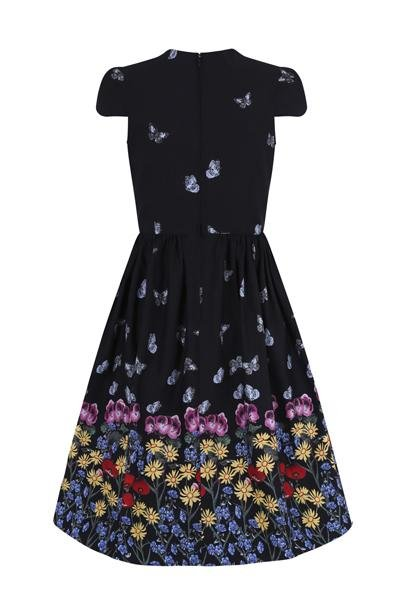 Hell Bunny Meadow 50's Black Dress (Plus Size) - Bohemian Finds