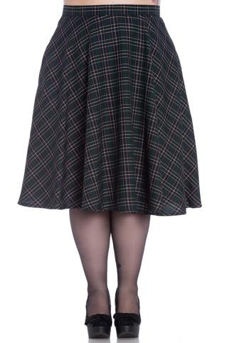 Hell Bunny Peeble Green 50's Skirt (Plus Size) - Bohemian Finds