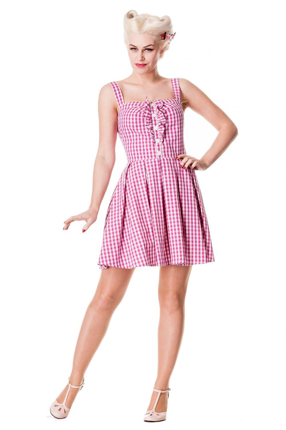 Hell Bunny Pink Lana Dress - Bohemian Finds