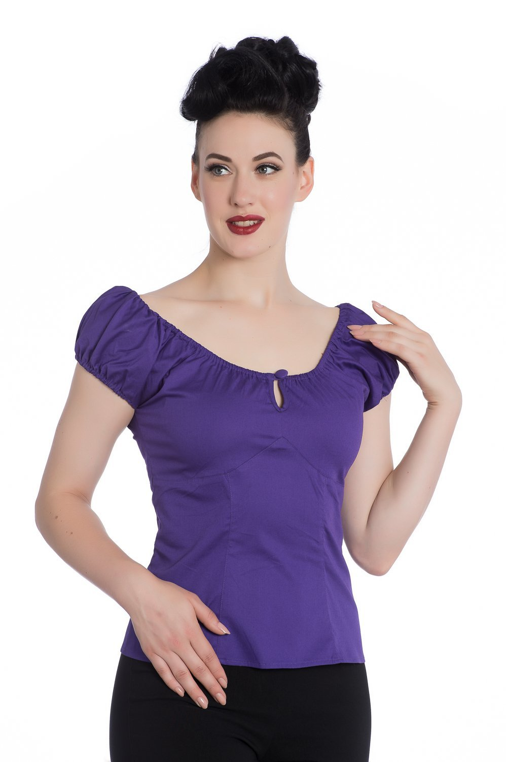 Hell Bunny Purple Melissa Top - Bohemian Finds