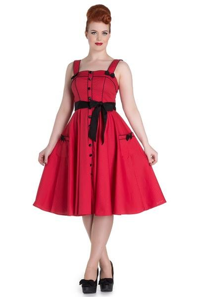 Hell Bunny Red Martie Dress - Bohemian Finds