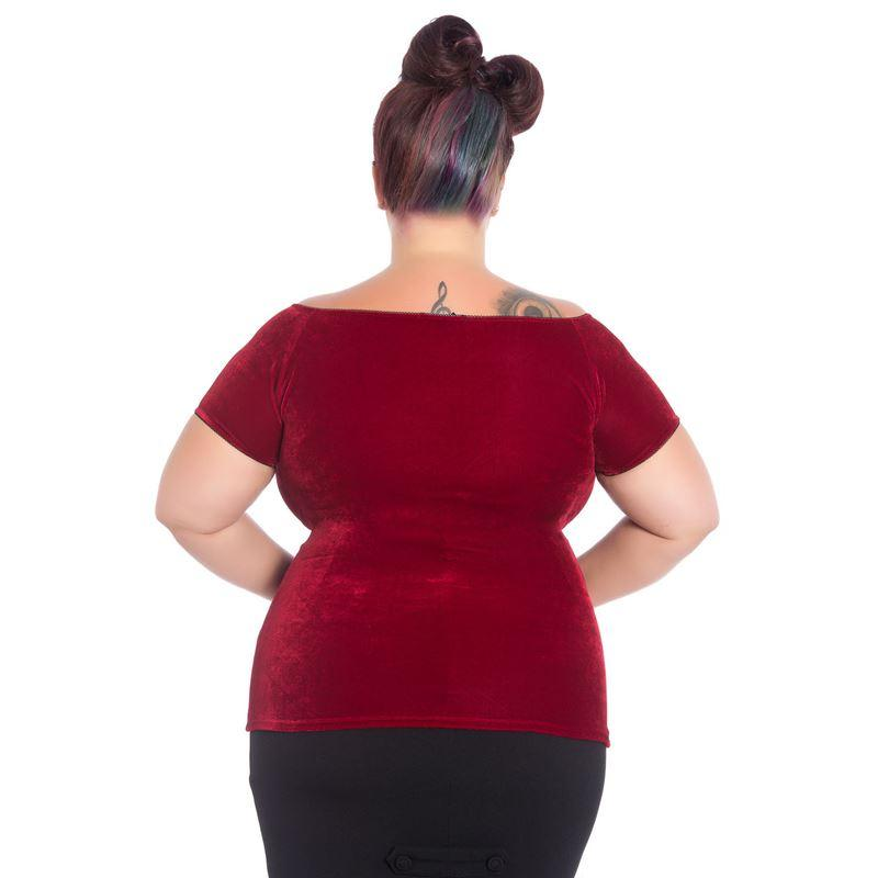Hell Bunny Red Sugar Top (Plus Size) - Bohemian Finds