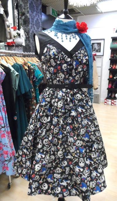 Hell Bunny Rock on 50's Dress - Bohemian Finds