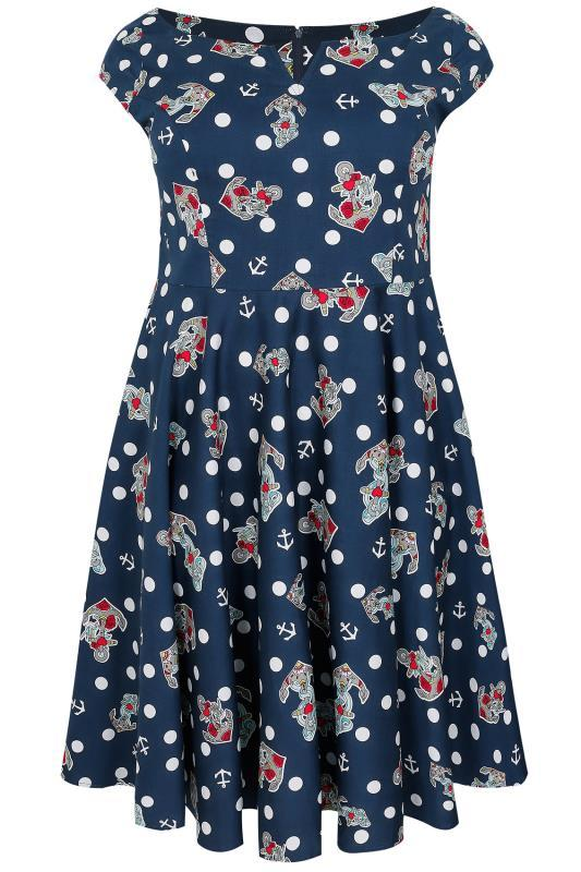 Hell Bunny Salina 50's Dress (Plus Size) - Bohemian Finds