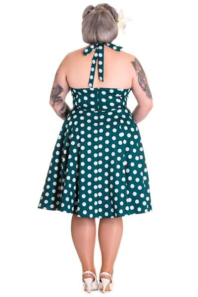 Hell Bunny Teal Mariam Dress (Plus Size) - Bohemian Finds