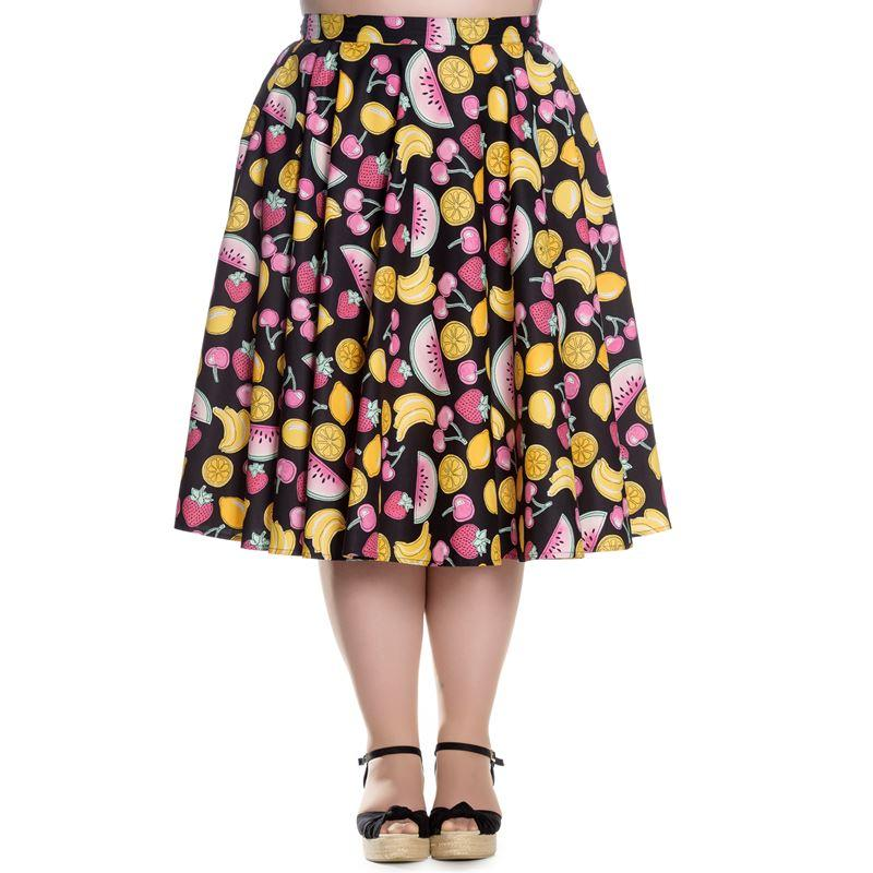 Hell Bunny Tutti Frutti Skirt (Plus Size) - Bohemian Finds