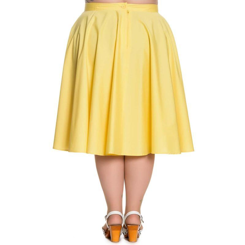 Hell Bunny Yellow Paula 50s Skirt (Plus Size) - Bohemian Finds