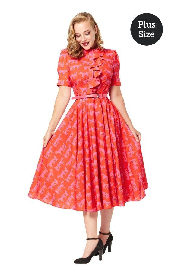 Timeless 50s Hope Horse Print Dress - Bohemian Finds