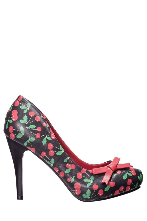 Banned Retro MONEY HONEY 50s Heels in Cherry - Bohemian Finds