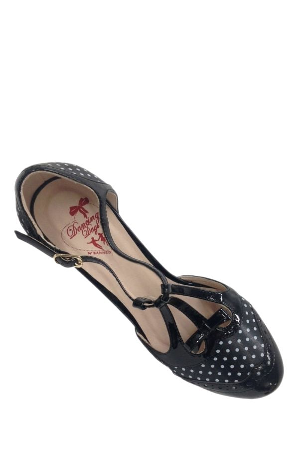 Banned Retro ONE NOTE SAMBA Black 50s Heels - Bohemian Finds