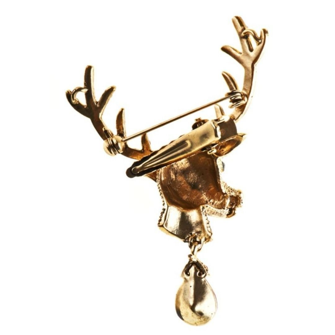 Red Forest Stag Hairclip and Brooch - Bohemian Finds