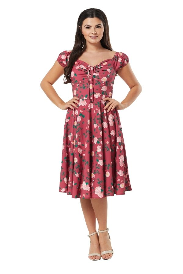 Timeless Rose 50s Swing Dress - Bohemian Finds