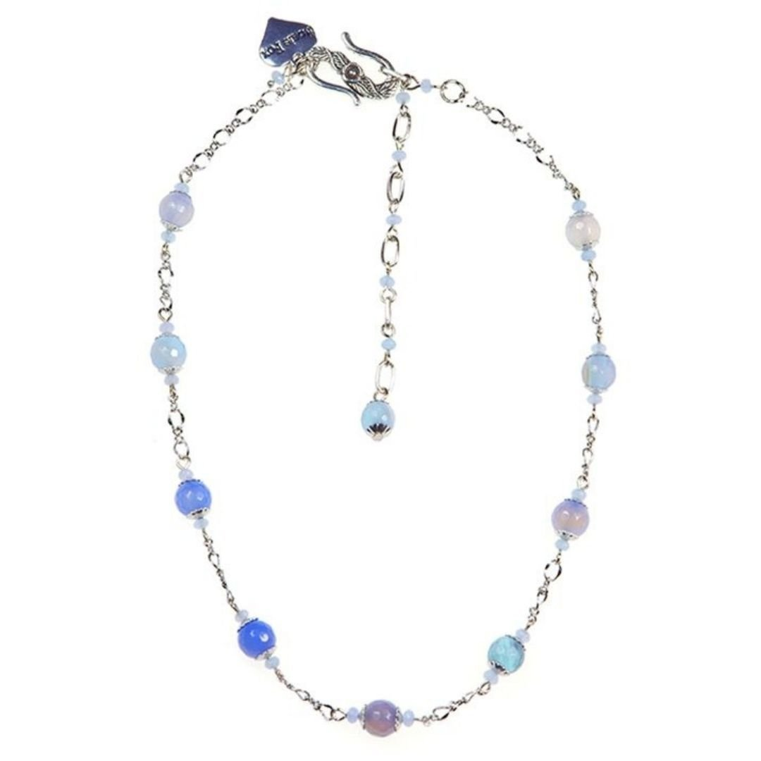 Rosie Fox Azure Agate Chain Necklace - Bohemian Finds