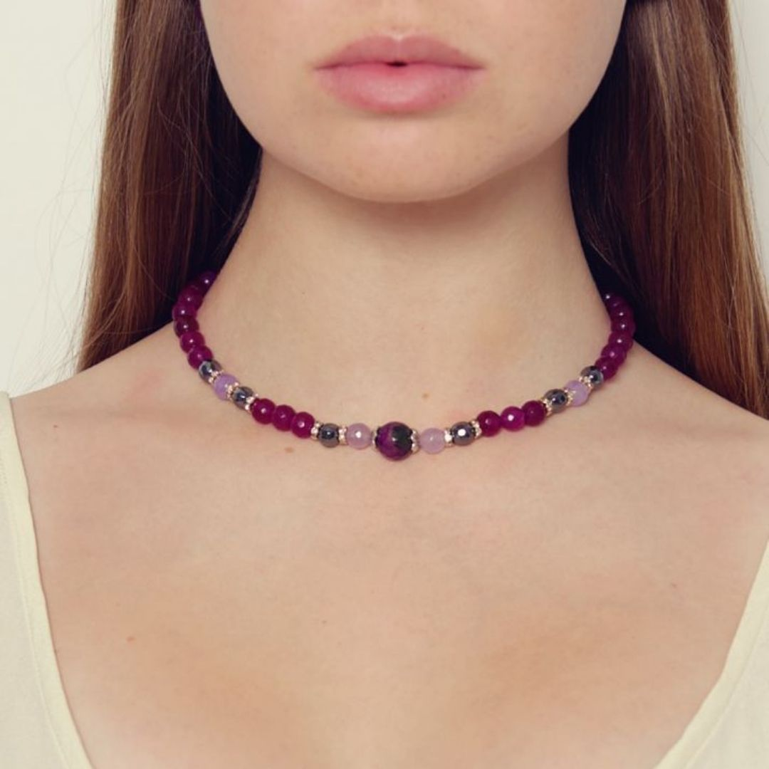 Rosie Fox Berry Agate Necklace - Bohemian Finds