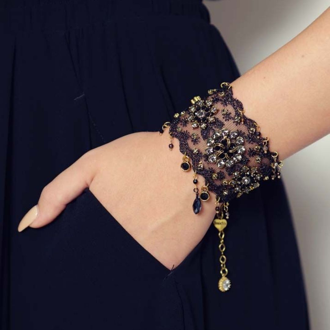 Rosie Fox Cafe Noir Lace & Gold Cuff £59.95 - Bohemian Finds