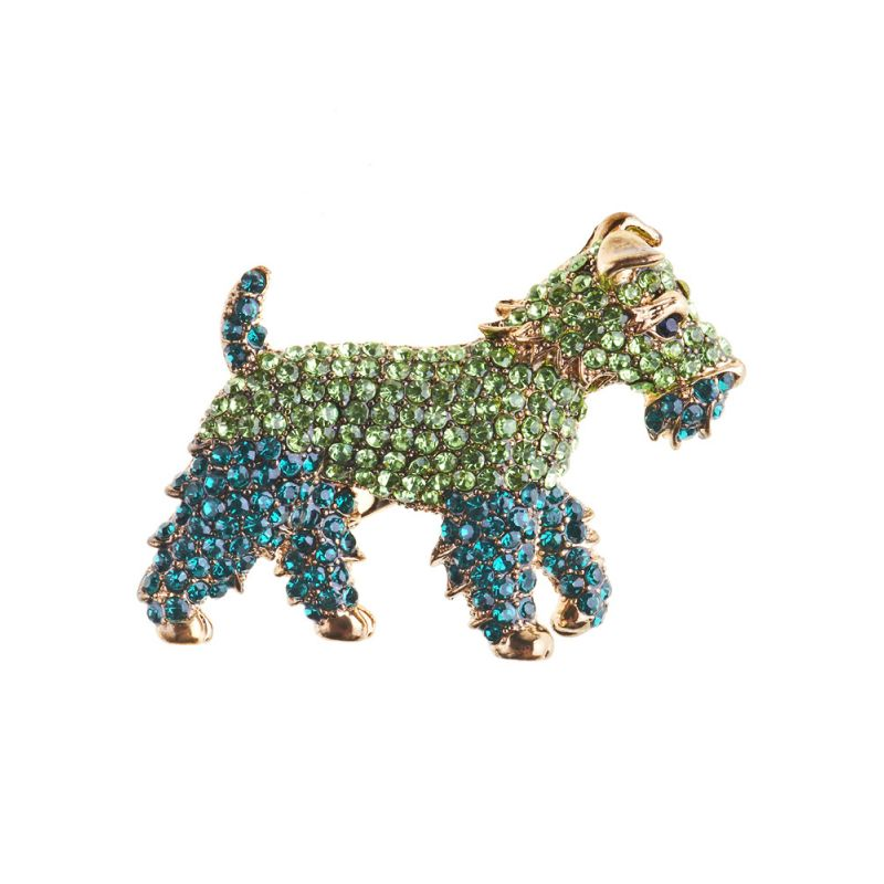 Rosie Fox Dazzling Green Fox Terrier - Bohemian Finds
