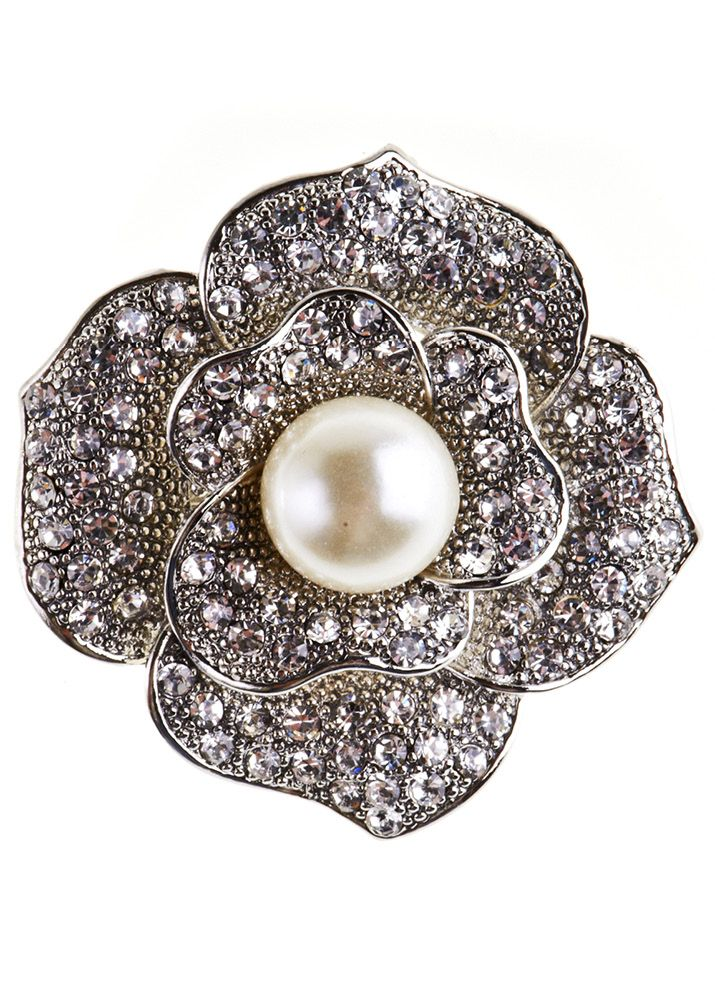 Rosie Fox Delicate Pearl Rose Hairclip and Brooch - Bohemian Finds