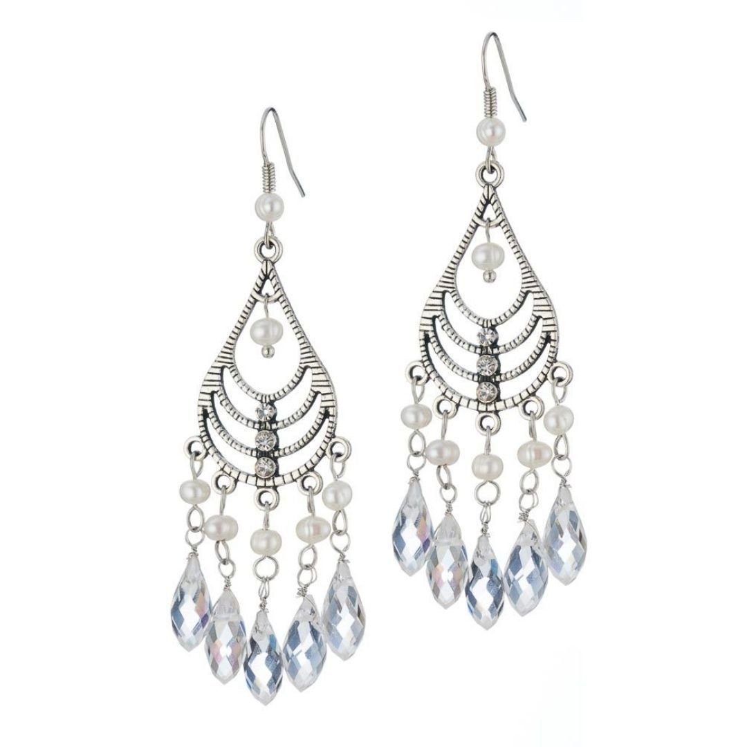 Rosie Fox Freshwater Pearl Chandalier Earrings - Bohemian Finds