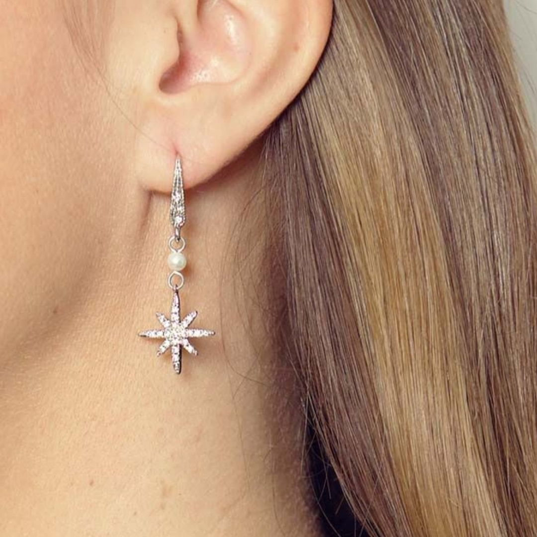 Rosie Fox Freshwater Pearl Star Earrings - Bohemian Finds