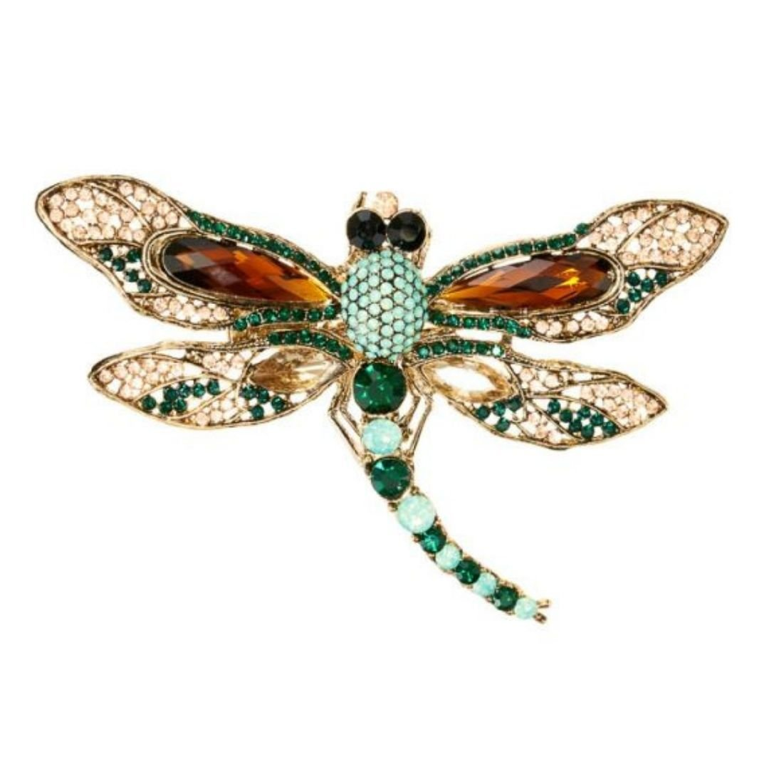 Rosie Fox Imperial Dragonfly Hairclip & Brooch - Bohemian Finds