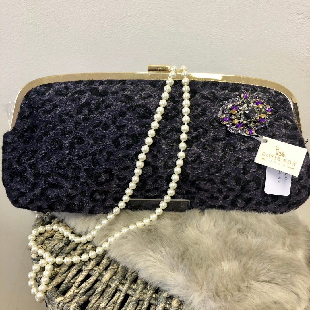 Rosie Fox Purple Faux Fur Clutch Bag - Bohemian Finds