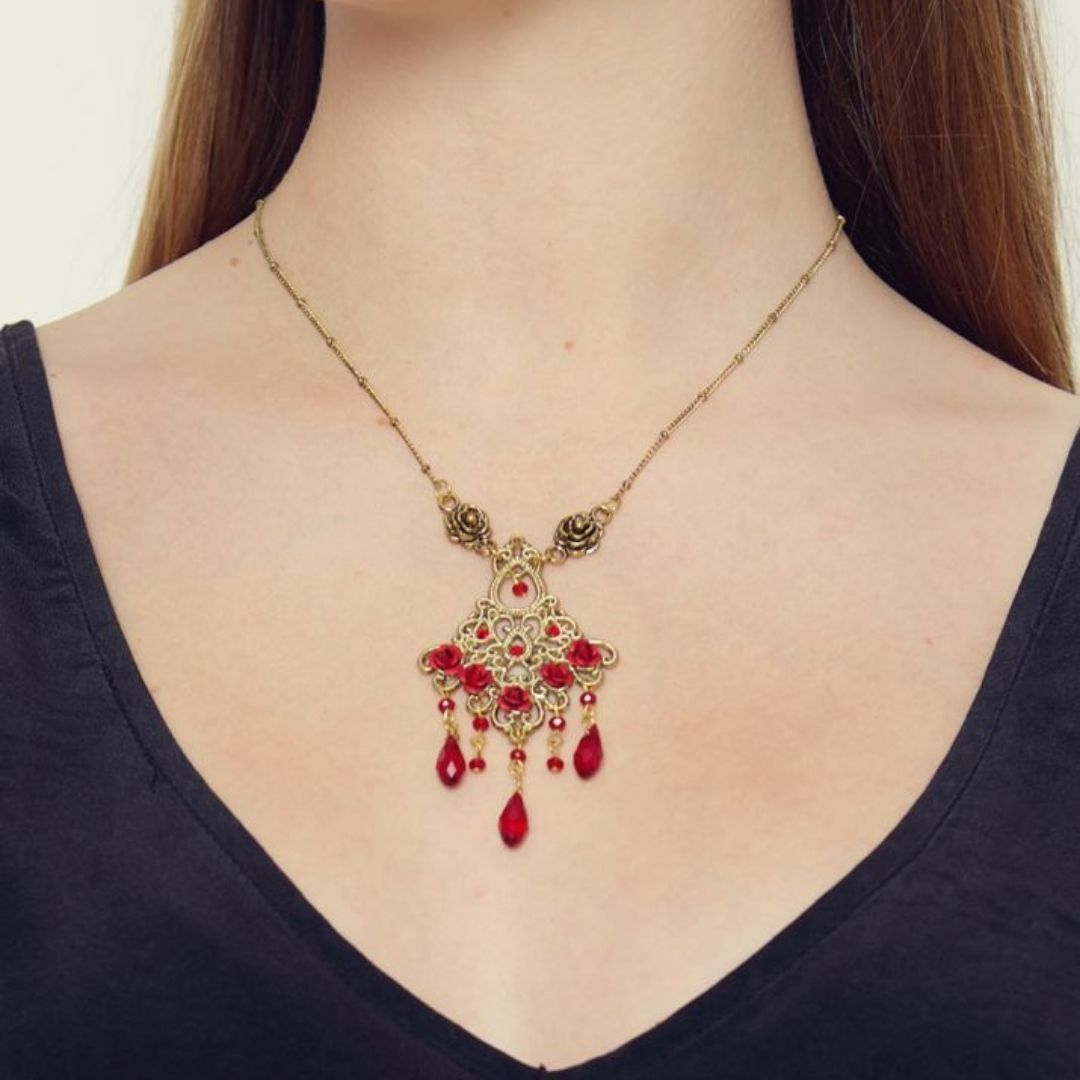 Rosie Fox Ruby Victoriana Necklace - Bohemian Finds