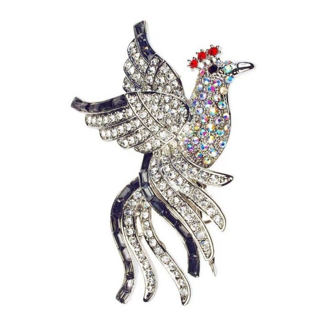 Rosie Fox Twilight Crystal Bird Hair Clip & Brooch - Bohemian Finds
