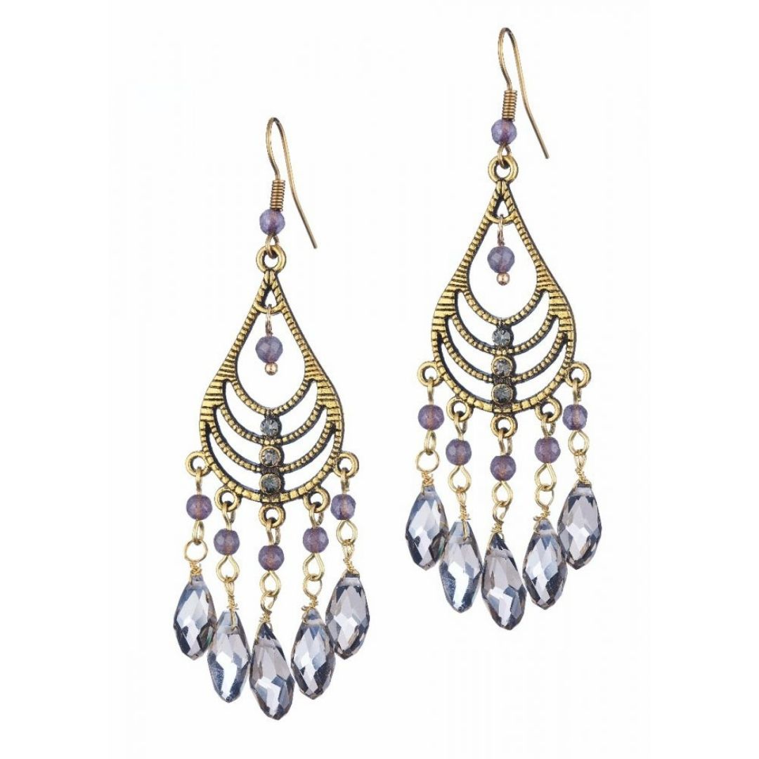 Rosie Fox Dove Chandalier Earrings - Bohemian Finds