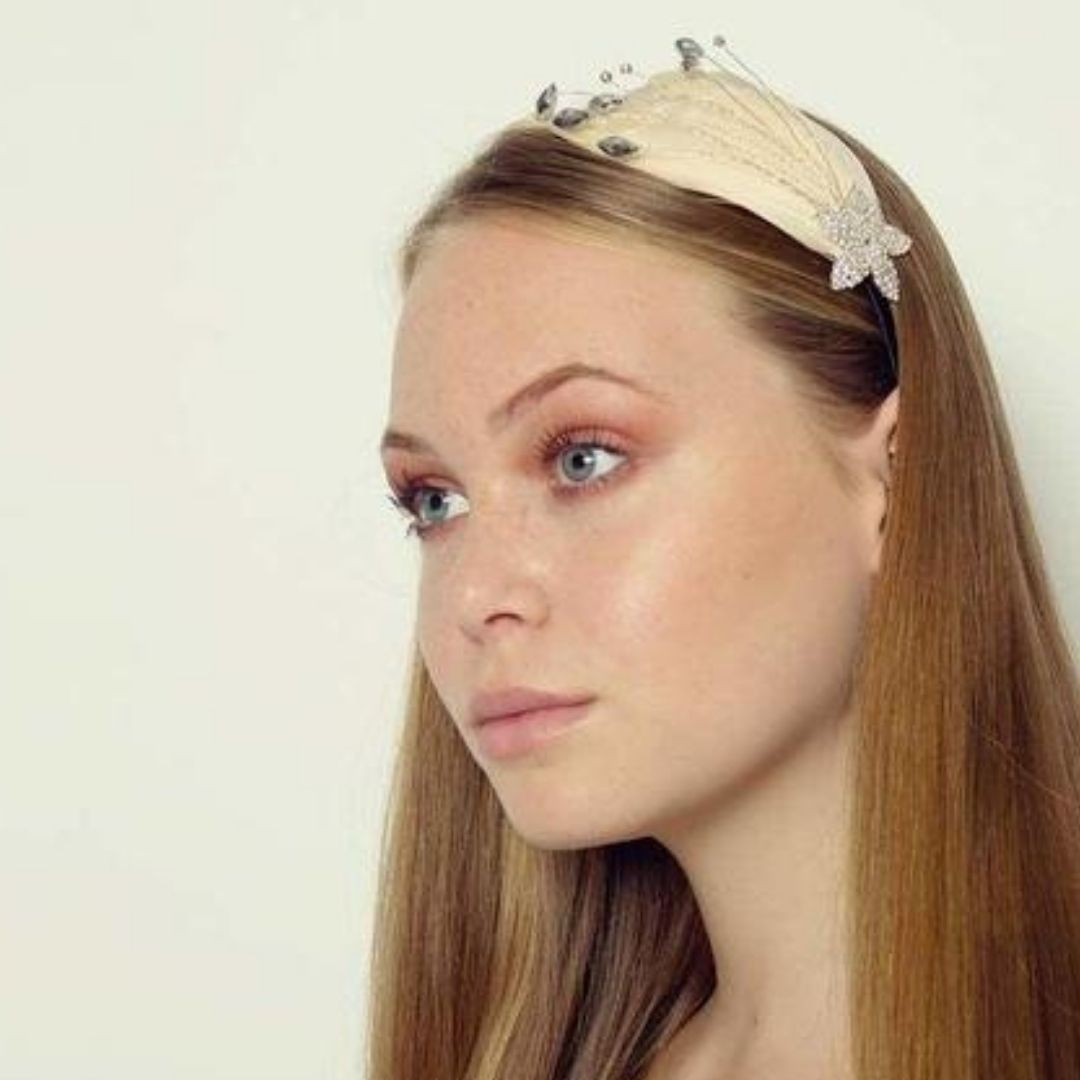 Rosie Fox Sparkle Apricot Star Crystal Feather Headband - Bohemian Finds