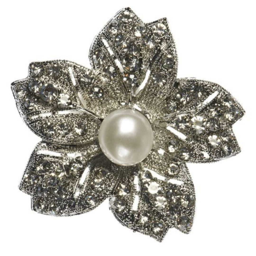 Rosie Fox Pearl Starburst Hairclip & Brooch - Bohemian Finds