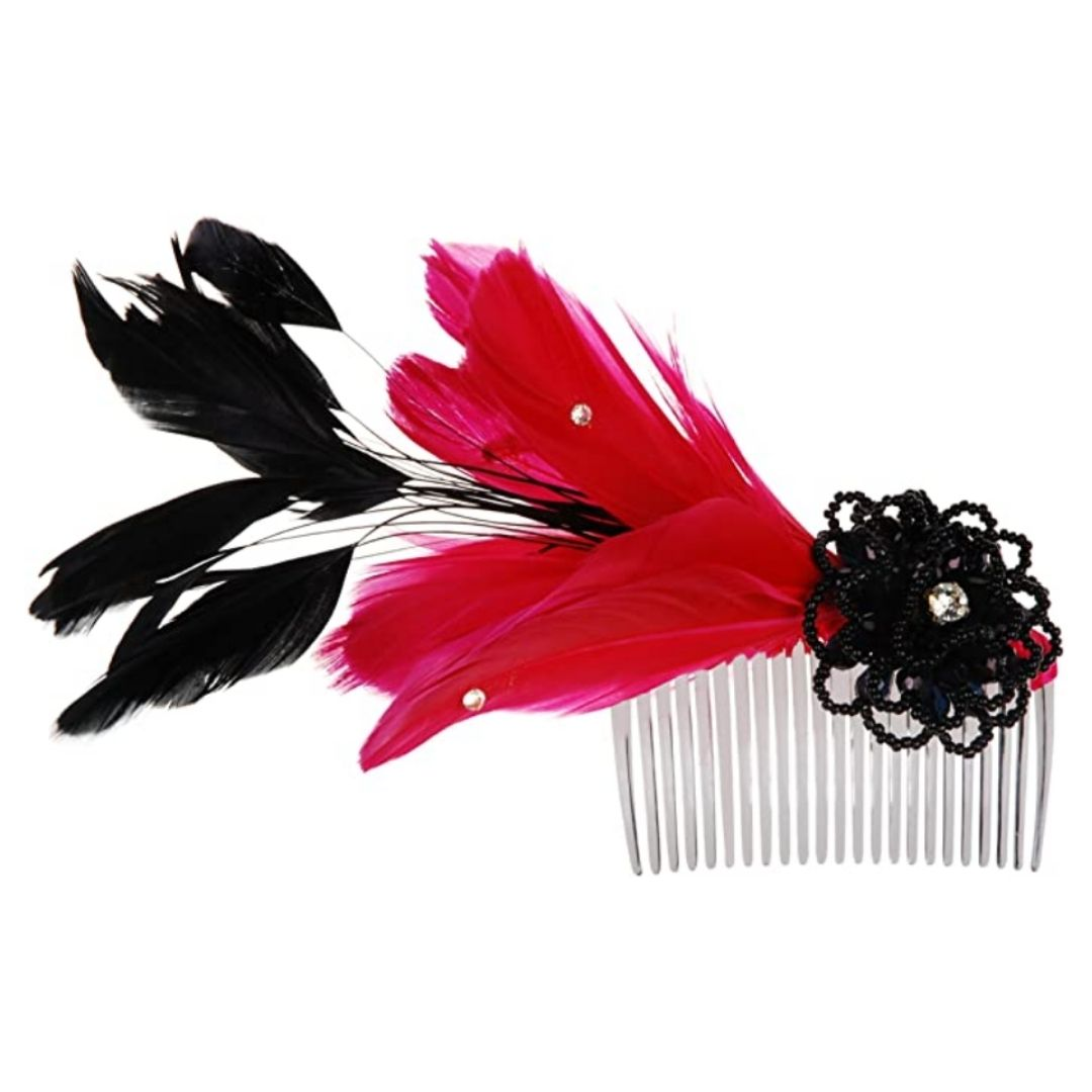 Rosie Fox Pink Burlesque Comb - Bohemian Finds