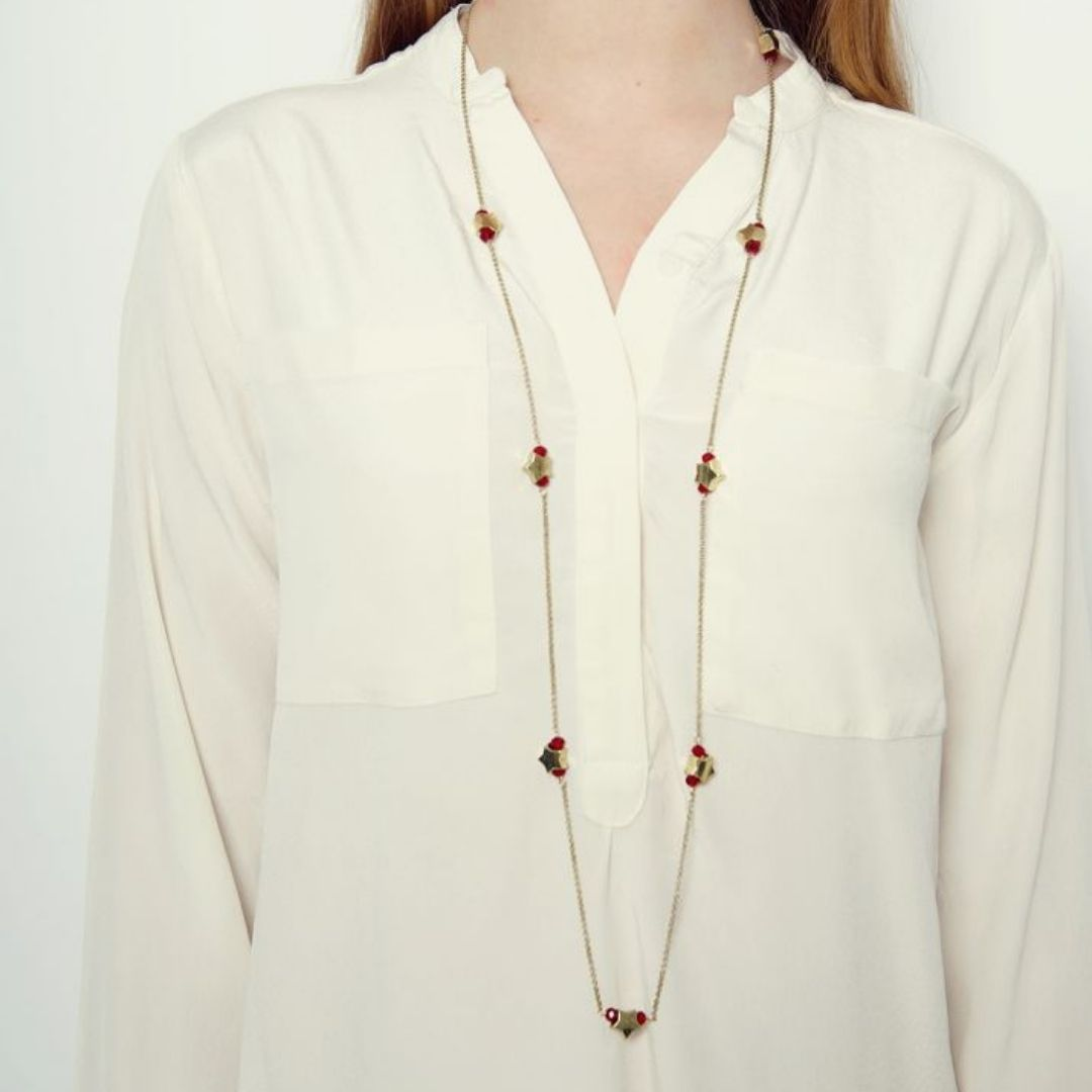 Rosie Fox Ruby Star Long Necklace - Bohemian Finds