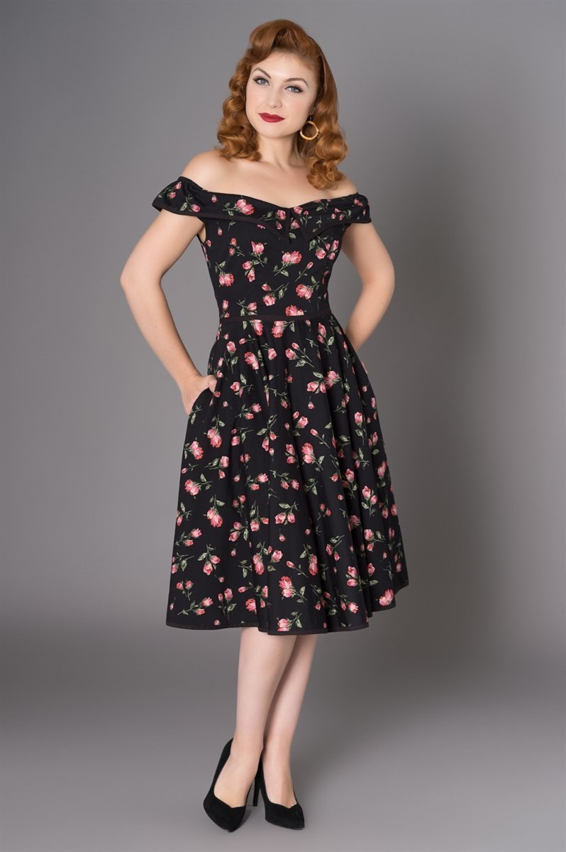 SHEEN Natasha Tulip Swing Dress (Plus Size) - Bohemian Finds