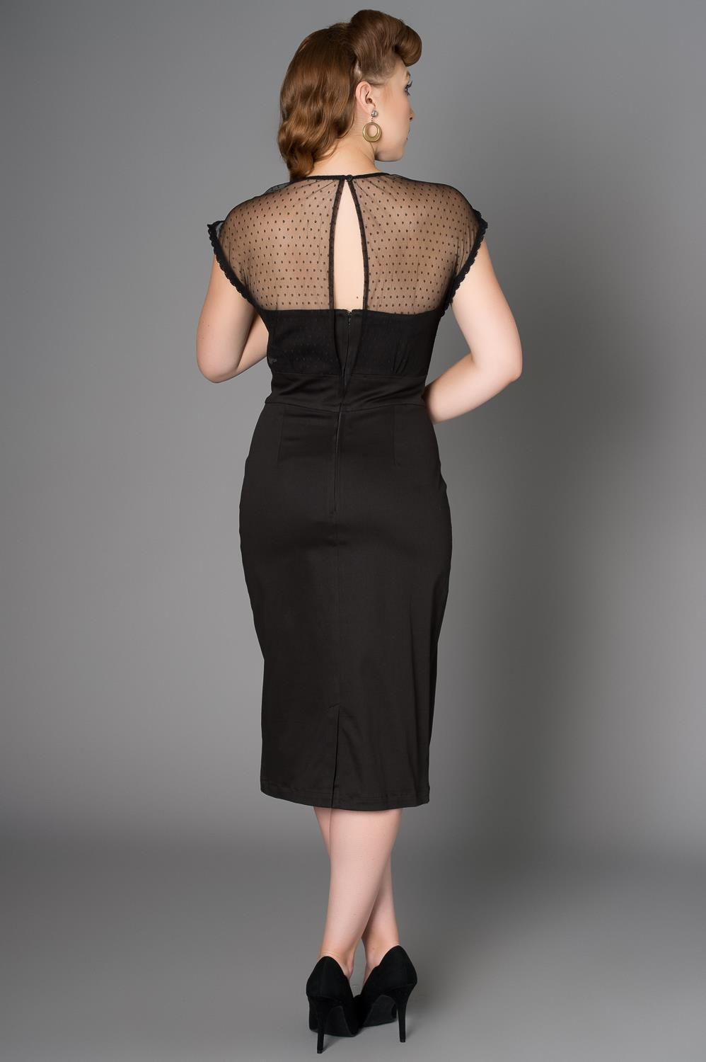 SHEEN Ophra Black Dress (Plus Size) - Bohemian Finds