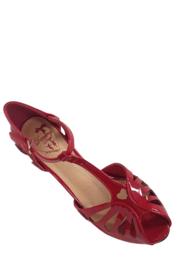 Banned Retro 50s Secret Love Red Sandals - Bohemian Finds