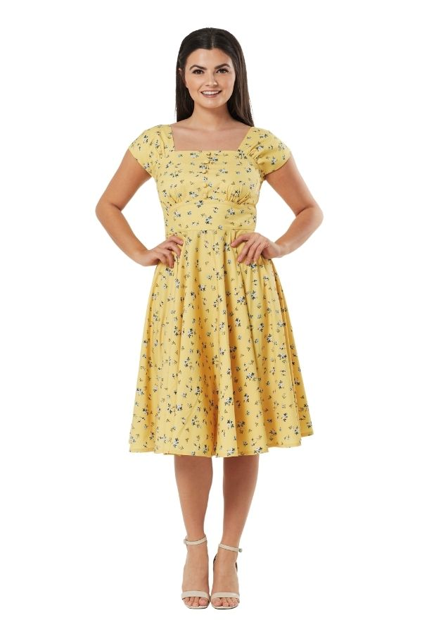 Timeless Seema 50s Swing Dress - Bohemian Finds