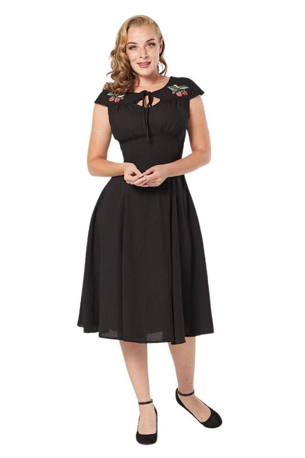 Timeless Adalee 40's WWII Inspired Tea Dress - Bohemian Finds