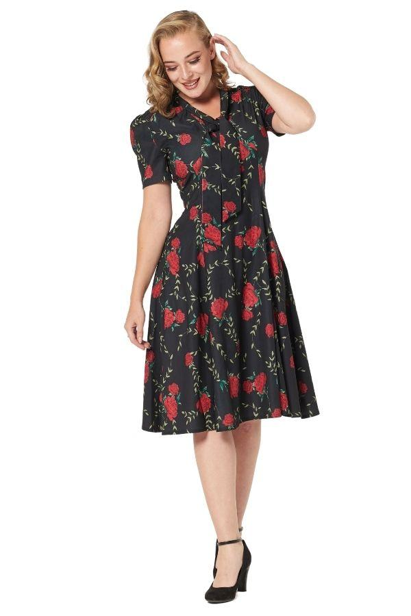 Timeless Amara 40s Vintage Inspired Tea Dress Timeless London