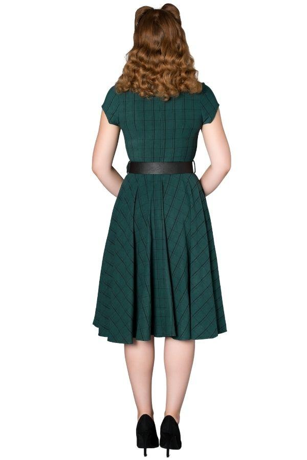 Timeless Florence Green 50s Vintage Inspired Dress - Bohemian Finds