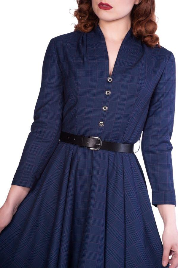 Timeless Helena Navy 50's Dress - Bohemian Finds