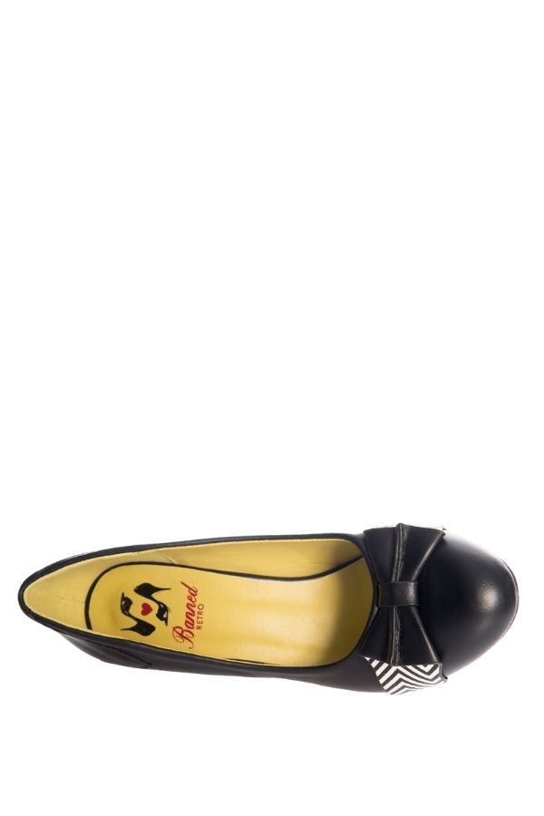 Banned Retro TOUCH OF GRACE 40s 50s 60s Black Pump - Bohemian Finds