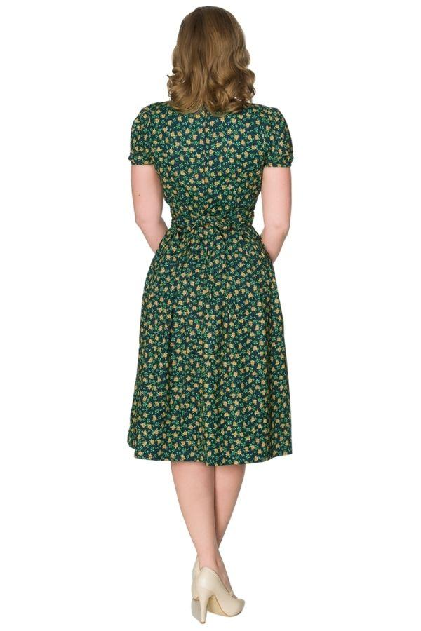 Timeless Valentina 40s WWII Inspired Floral Tea Dress - Bohemian Finds
