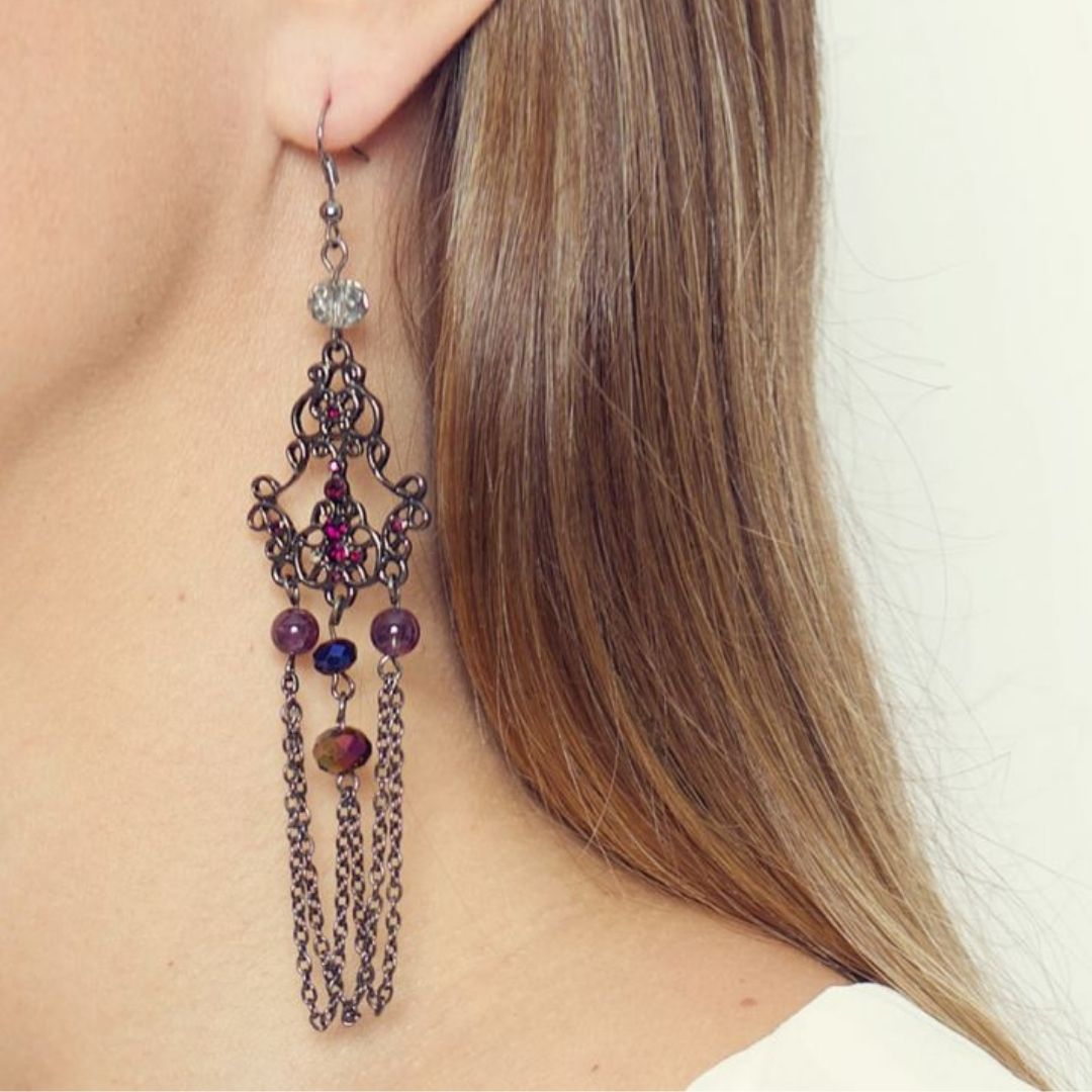 Rosie Fox Vintage Amethyst Earrings - Bohemian Finds