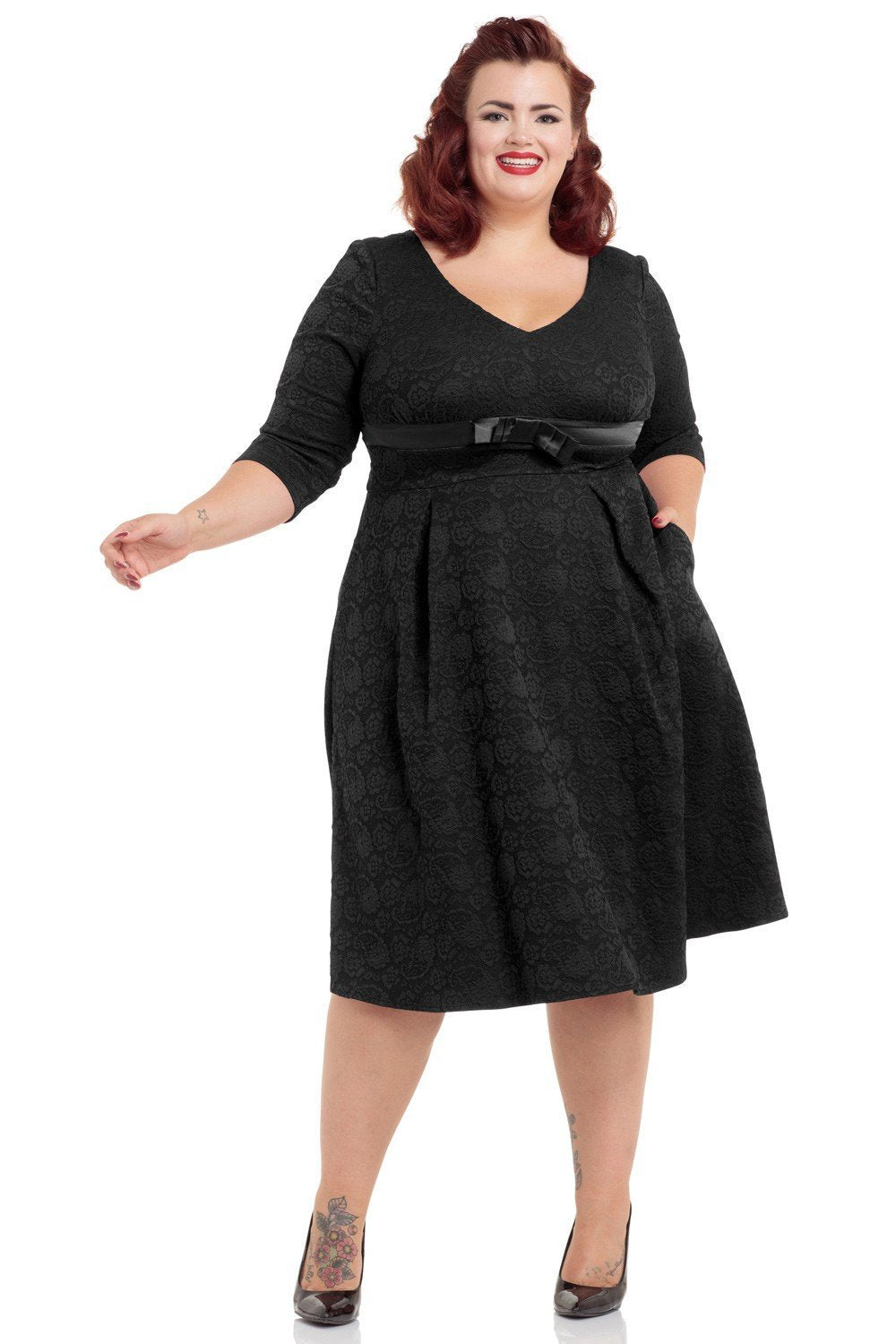 Voodoo Vixen Black Jane Dress (Plus Size) - Bohemian Finds
