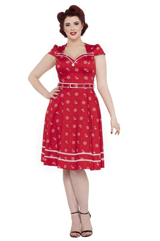 Voodoo Vixen Joni Red Dress (Plus Size) - Bohemian Finds