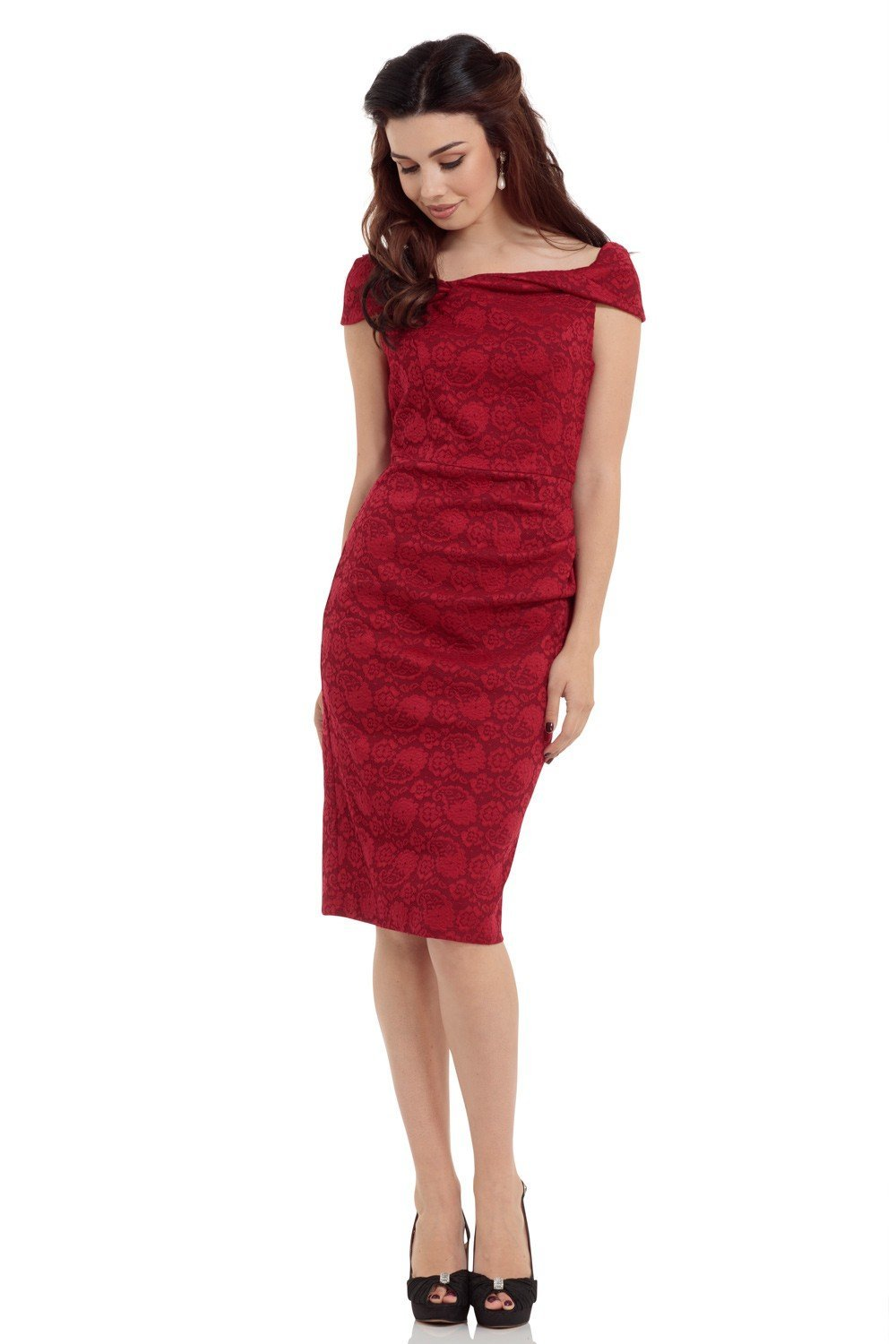 Voodoo Vixen Maisie Dress (Red) - Bohemian Finds
