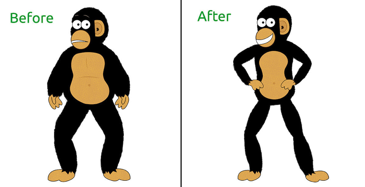 before & after weight loss image
