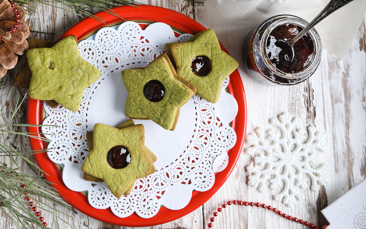 Christmas Cookies With Matcha